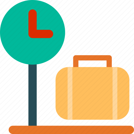 bag, briefcase, luggage, luggage checker, suitcase, travel, vacation icon