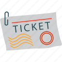 ticket, badge, coupon, stamp