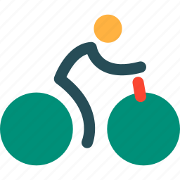 bicycle, delivery, man on bicycle, transport, transportation, travel, vehicle icon
