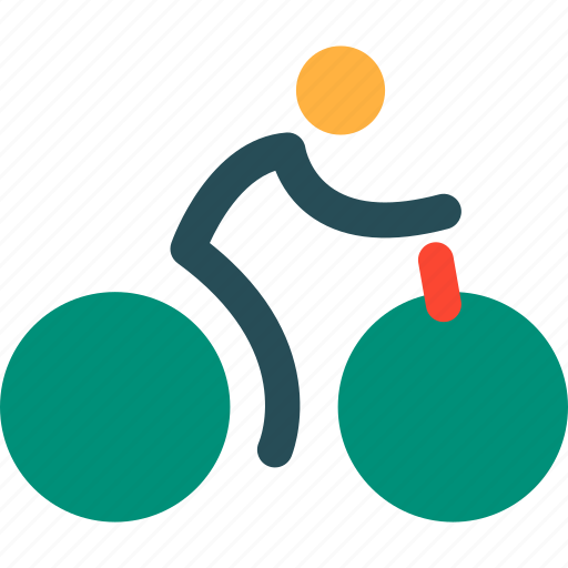 Bicycle, man on bicycle, transport, transportation, delivery, travel, vehicle icon - Download on Iconfinder