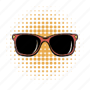 comics, eye, glasses, lens, protection, sun, sunglasses icon