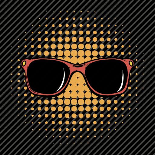 comics, eye, glasses, lens, protection, sun, sunglasses icon