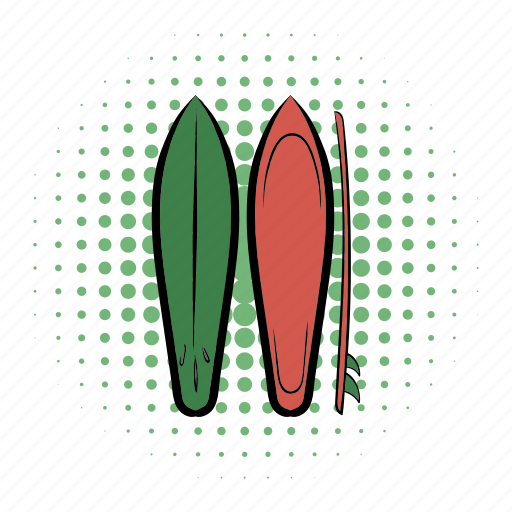 board, comics, sport, surf, surfboard, surfing, water icon