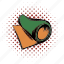 comics, equipment, exercise, fitness, mat, workout, yoga icon