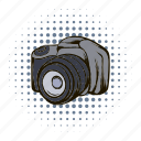 camera, comics, equipment, film, lens, photo, photography icon