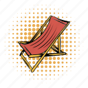beach, chair, chaise, comics, furniture, longue, relaxation icon
