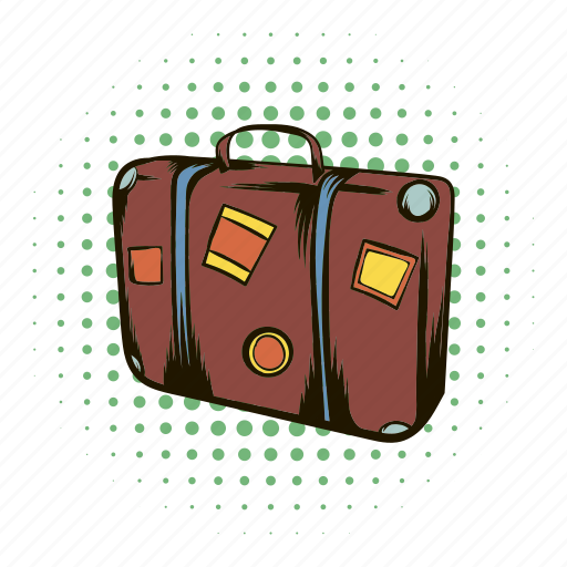 bag, comics, journey, luggage, suitcase, travel, vacation icon