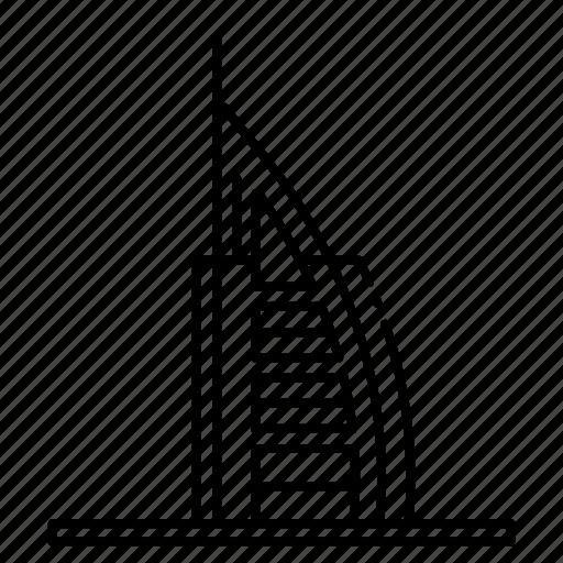 Burj al arab, dubai, travel, uae icon - Download on Iconfinder