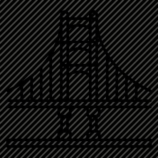 Bridge, francisco, gate, golden, san icon - Download on Iconfinder