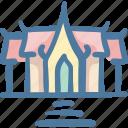 benchamabophit, famous, landmarks, thai, thailand, wat icon