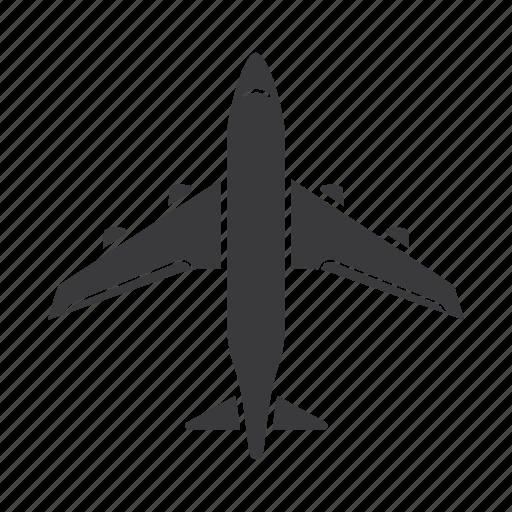 aeroplane, airplane, airport, boeing, flight, plane icon