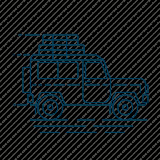 car, suv, transport, travel, vehicle icon