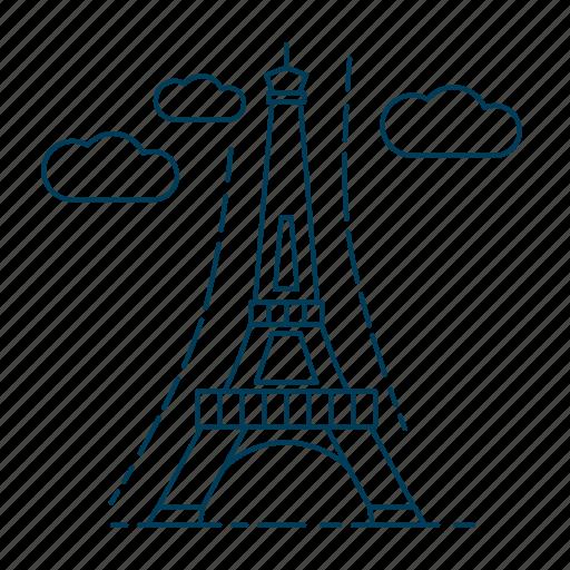architecture, eiffel tower, france, paris icon