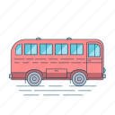 autobus, bus, transport, travel, vehicle icon