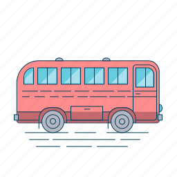 autobus, bus, transport, travel, vehicle icon