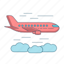 aircraft, airplane, aviation, flight, jet, plane icon