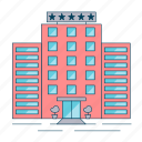 building, hotel, vacation icon