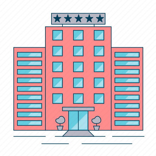 building, hotel, vacation icon