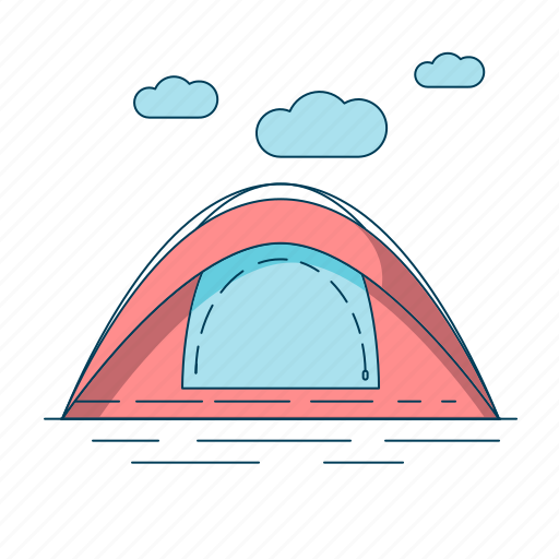 camp, camping, nature, tent icon