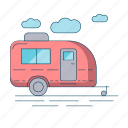 camp, camper, camping, outdoor, tourism, travel icon