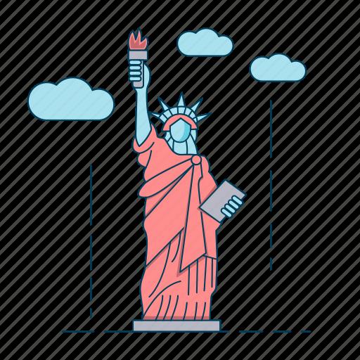 liberty island, new york, statue of liberty, usa icon
