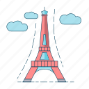 architecture, eiffel tower, france, paris icon