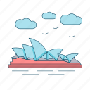 australia, landmark, opera house, sydney icon