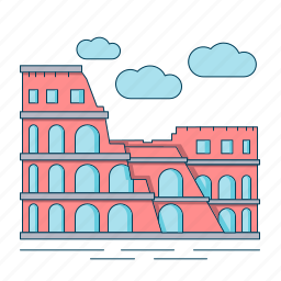 architecture, colosseum, landmark, roman, rome icon