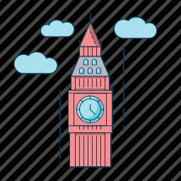 big ben, london, uk, united kingdom icon