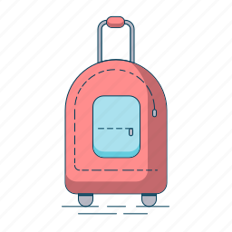 bag, luggage, tourism, travel, vacation icon