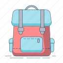 backpack, bag, hiking, travel icon