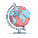 destination, earth, globe, gps, navigation, travel icon