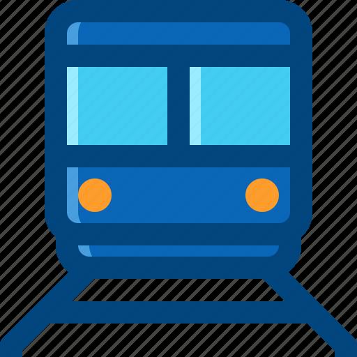 rail, road, train, transportation, travel icon