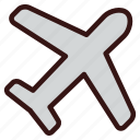 flight, plane, takeoff, travel, vacation icon
