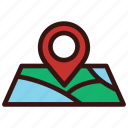 directions, location, map, marker, pin icon