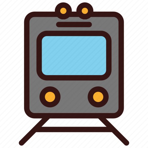 rail, railway, train, transportation, travel, vehicles icon