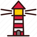 building, guide, lighthouse, travel, vacation icon