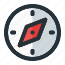 compass, direction, gps, navigation, tool icon