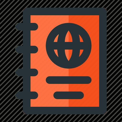 document, important document, journal, visa icon