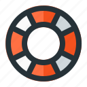 help, life, lifebuoy, ring, support icon