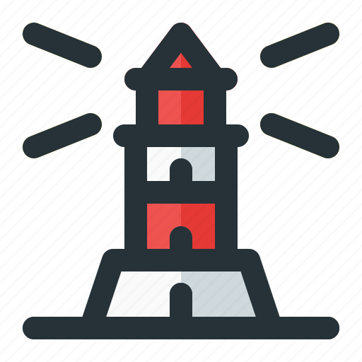 Building, light, lighthouse, sea, tower icon - Download on Iconfinder