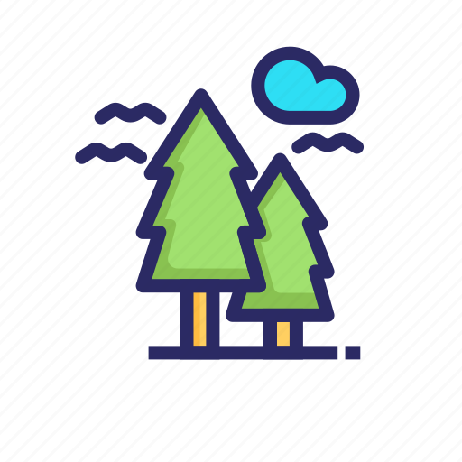 forest, jungle, lake, nature, outdoor, tree, wood icon