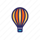 air, balloon, cloud, hot, hot air balloon, journey, sky icon