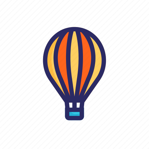 air, balloon, cloud, hot, hot air balloon, journey, sky icon