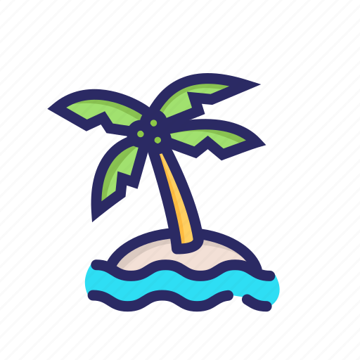 jungle, lake, nature, outdoor, rest, tree, wood icon