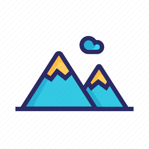 hill icon, landscape, mount, mountain, nature, outside, vacation icon