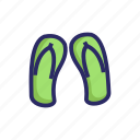 beach, footwear, holiday, sandal, shoe, travel, traveling icon