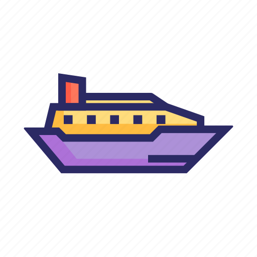 boat, ferry, marine, sea, ship, shipping, traveling icon