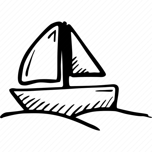 boat, sailing, sea, travel, vacation icon