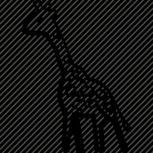 africa, animal, giraffe, jungle, safari, travel, vacation icon